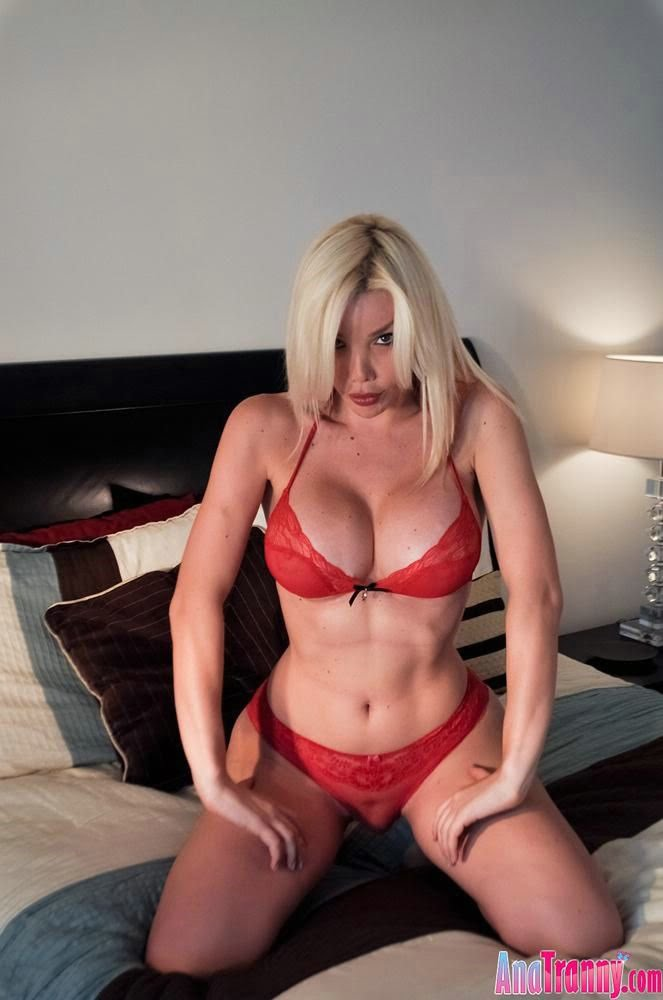 Ana Tranny In Her Red Bra And Panties
